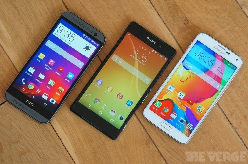 HTC One, Sony Xperia Z2, and the Galaxy S5: Android's flagship phones in pictures