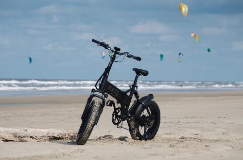 Having too much fun on a Mate X electric folding bike