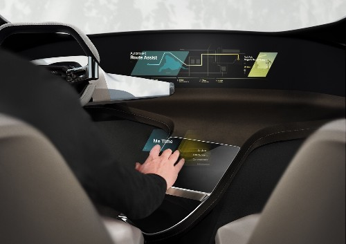 BMW's HoloActive Touch floats a virtual touchscreen next to your steering wheel