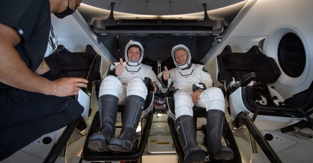 "NASA astronaut on SpaceX Crew Dragon return: ""Sounded like an animal"""