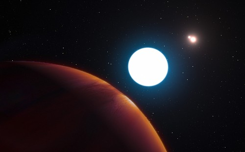 Massive planet found within a triple-star system