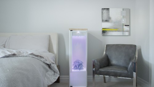 This glowing obelisk will grow weed in your bedroom at the touch of a button