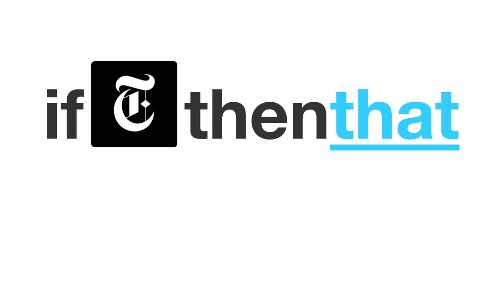 A recipe for news: IFTTT adds New York Times support, more publications coming