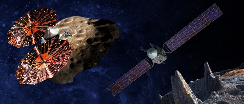 In the 2020s NASA will launch spacecraft to study Jupiter's asteroids, and another made of metal