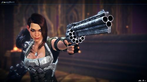 Bombshell looks and sounds like a Duke Nukem game starring a bionic woman