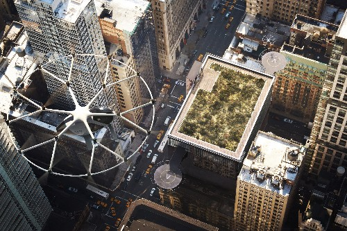 """Volocopter envisions """"air taxi"""" stations that can handle 10,000 passengers a day"""