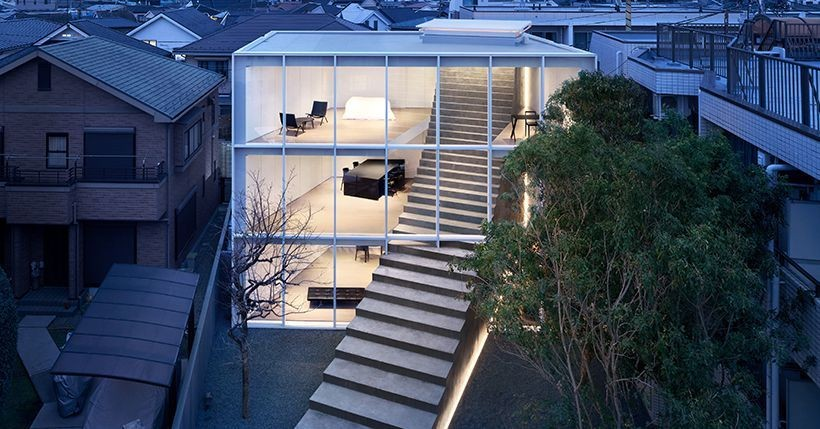 Giant staircase takes center stage in this Japanese house