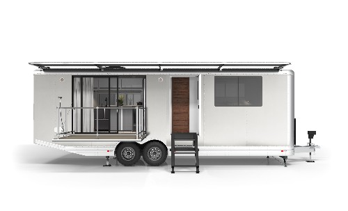 Luxury off-grid travel trailer is like an ultra-modern Airstream