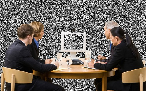 This microsite is one endless, creepy conference call