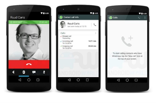 This is probably what WhatsApp voice calling will look like