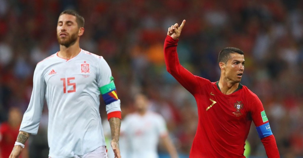 Spain and Portugal advance in wild conclusion to Group B play