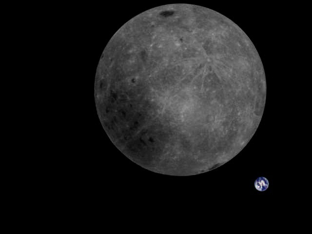 Chinese satellite captures stunning backside image of the Moon with Earth