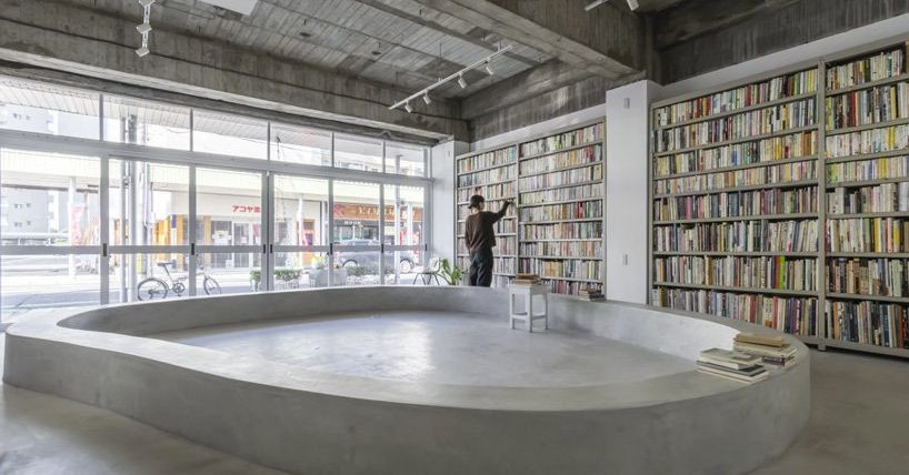 The ground floor of this Japanese home is a public library