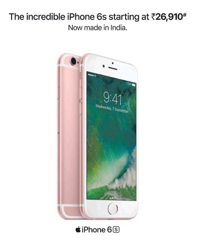 """Apple keeps iPhone 6S going with """"made in India"""" campaign"""