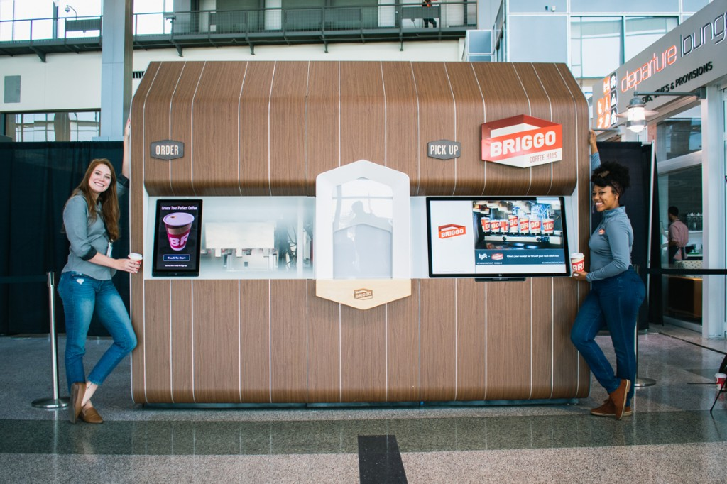 Foxconn's first announced product for its Wisconsin factory is an airport coffee robot