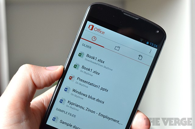 Microsoft Office for Android now available, but not for tablets