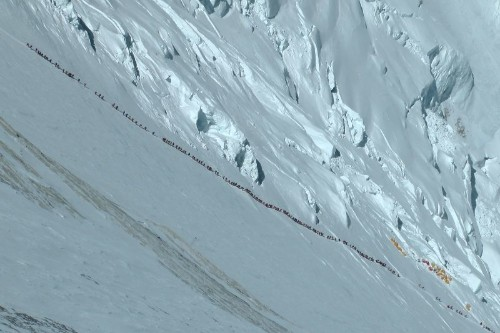 High-altitude traffic jams are depriving Mount Everest of its sense of adventure