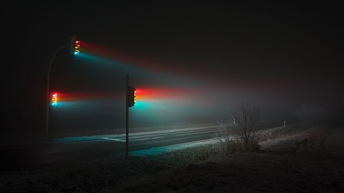 Traffic signals take on a sinister, beguiling light in new photo series