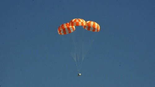 NASA will test the Orion spacecraft's landing system with failing parachutes today