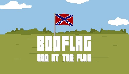 Boo the Confederate flag until it burns in browser game BooFlag