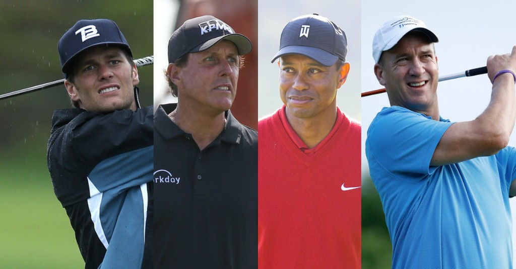 Tiger, Phil, Brady and Peyton Go Golfing - cover