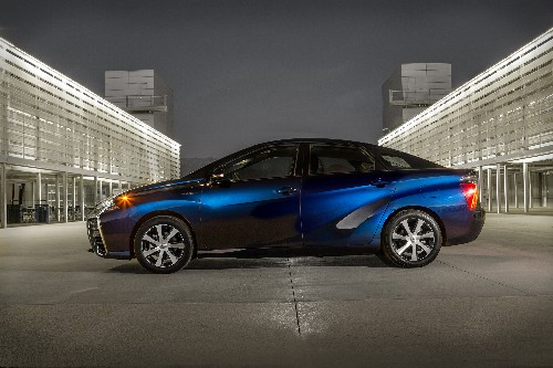 Toyota's new hydrogen-powered Mirai sedan will be on sale next year for $57,500