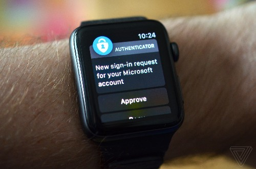 You can now sign into a Microsoft Account with an Apple Watch, no password required