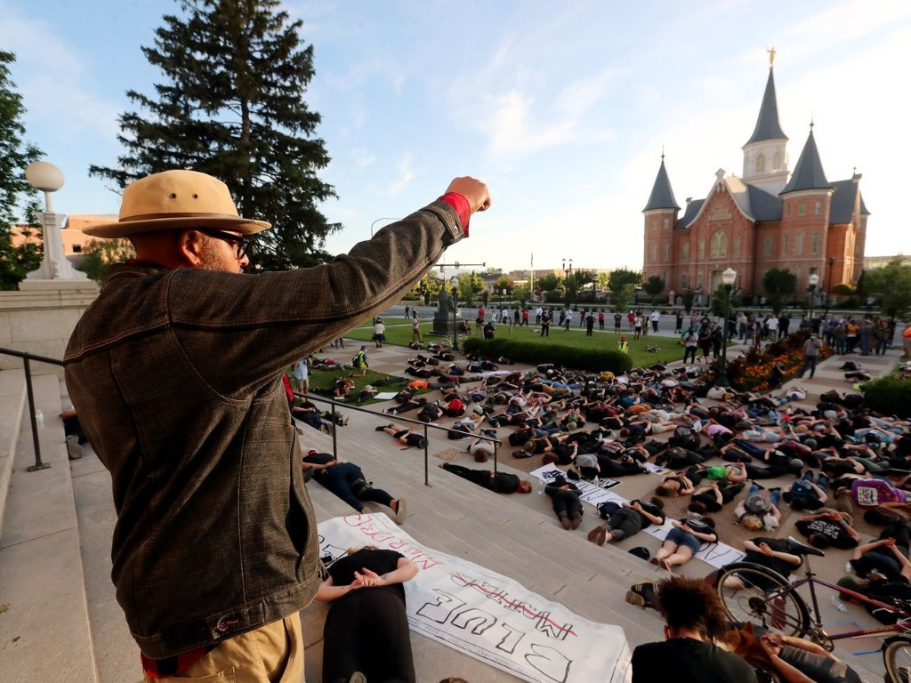 Dueling protests face off in downtown Provo 2 days after demonstration turned violent