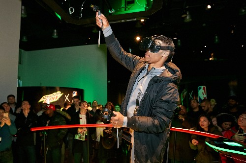 I watched NBA players paint in VR to promote Mountain Dew