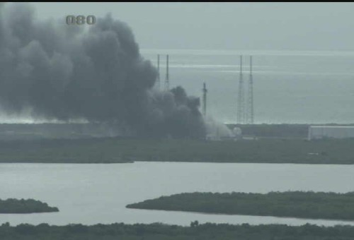 SpaceX's Falcon 9 explodes on Florida launch pad during rocket test preparations