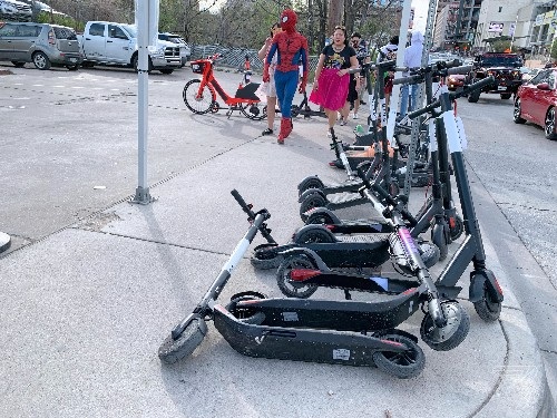 A cyclone of scooters has descended on Austin for SXSW, for better or worse