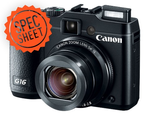 Spec Sheet: Canon plays it safe with the G16 point-and-shoot