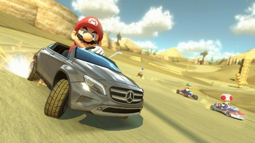 Drive a Mercedes in 'Mario Kart 8'