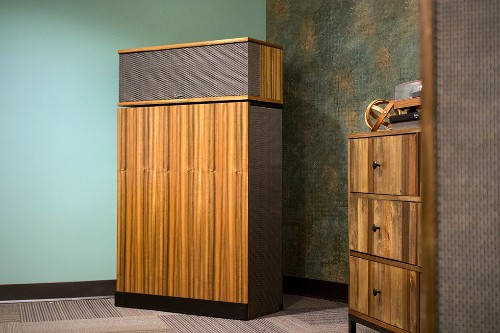 Klipsch's Klipschorn speaker has been so good for so long that it now looks retro