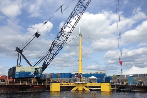 North America's first offshore wind turbine deployed in Maine