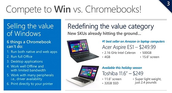 Microsoft launches a price assault on Chromebooks