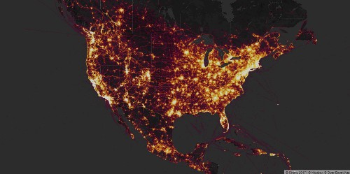 Strava's fitness tracker heat map reveals the location of military bases
