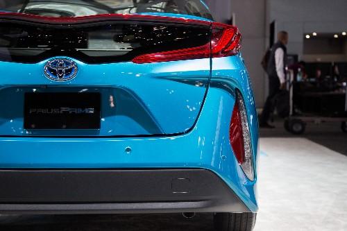 The Toyota Prius Prime's high-tech interior has a 'budget Tesla' feel