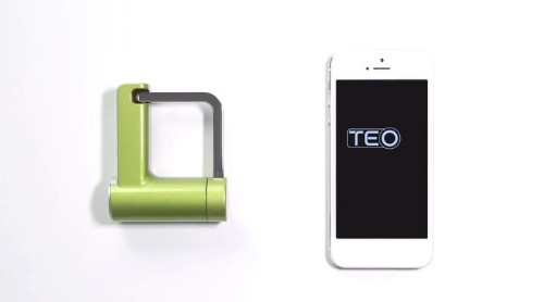 Teo padlock uses Bluetooth to secure your stuff