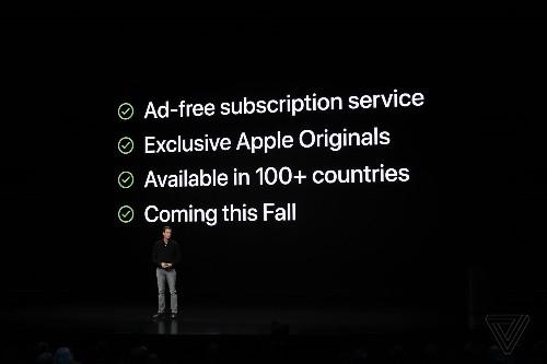 Apple announces Apple TV Plus video subscription service