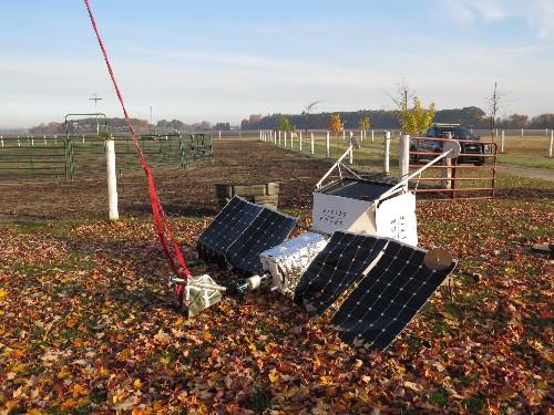 Samsung's 'space selfie' balloon crash-lands on Michigan farm