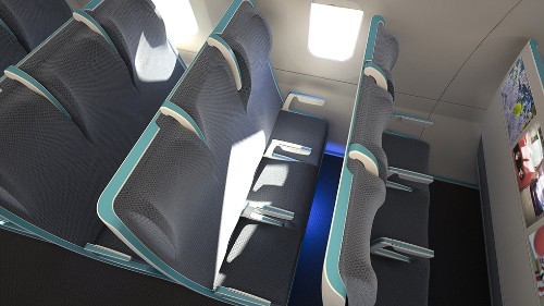 Morph: a bold seating concept for flexible air travel