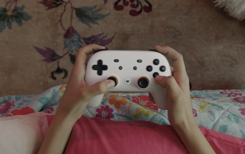 Here is Google's controller for its Stadia game streaming service