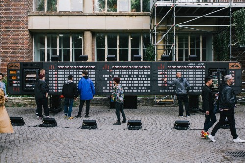 Red Bull set up the world's largest step sequencer outside a Berlin nightclub