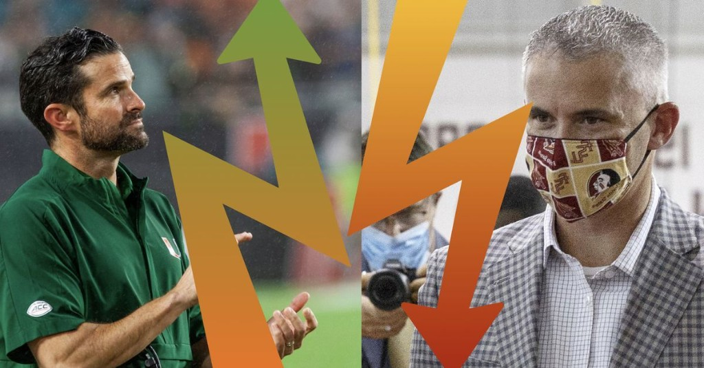 Miami And Florida State: Two Rivals Trending in Strongly Opposite Directions