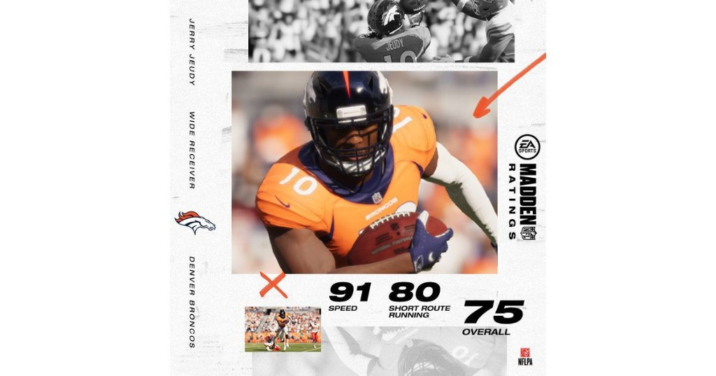 Jerry Jeudy reacts to release of rookie Madden ratings