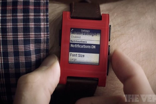 The Verge at work: using the Pebble smartwatch to never miss a thing