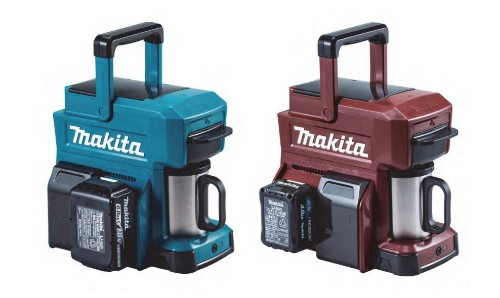 Here's a rugged coffee maker that runs off power tool batteries