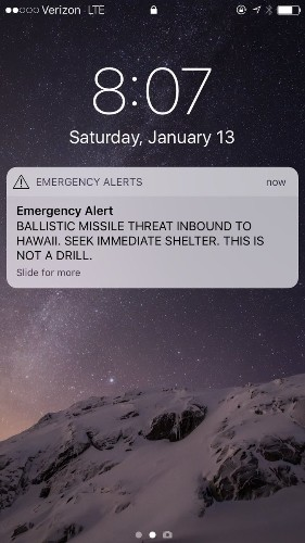 CDC confirms that Hawaii's false missile alarm was scary