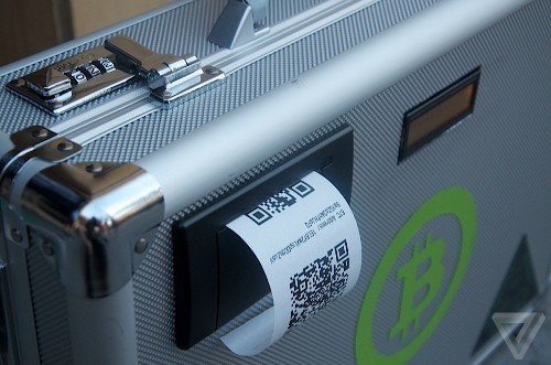 Bitcoin suitcase eats your pocket change, spits out digital currency